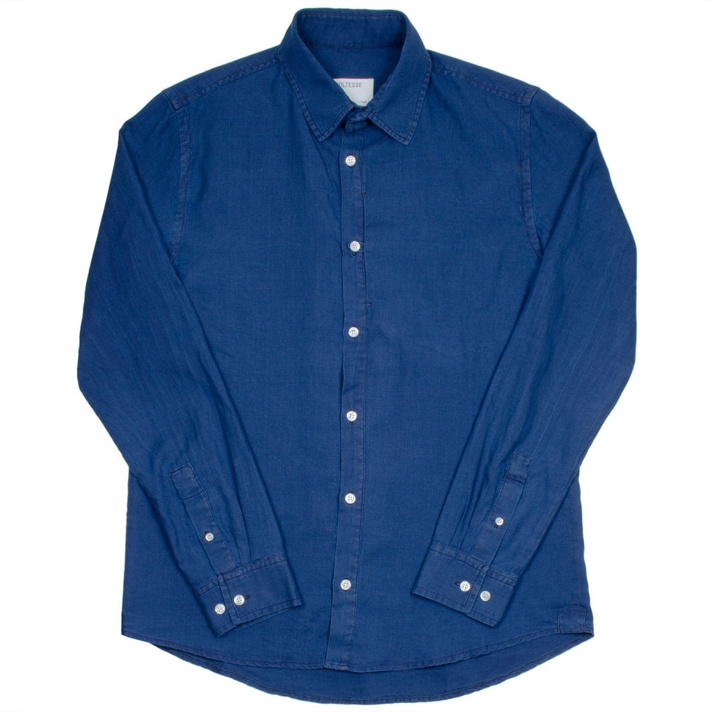 Coltesse - Napoléon Vertical Hidden Pocket Shirt - Dark Blue