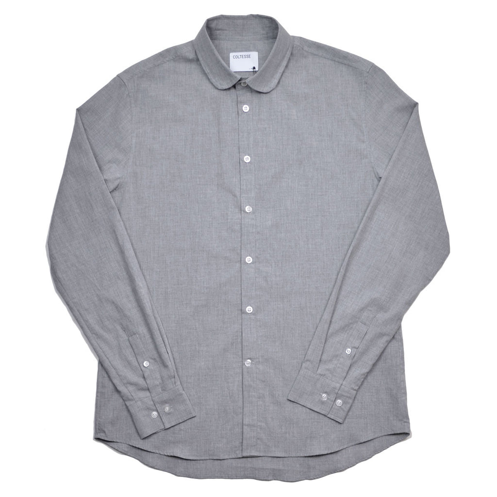 Coltesse - Vera Round Collar Shirt - Light Grey (Brushed)
