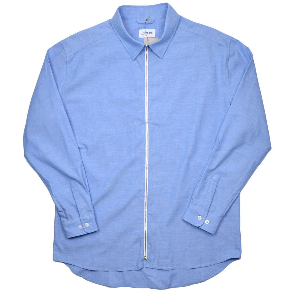 Coltesse - Yamato Oversize Shirt with Zip - Blue