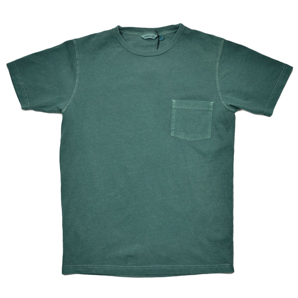 Dana Lee - Double-needle Tee - Phtalo Green Sunwash