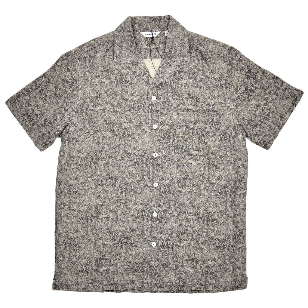 Dana Lee - Tropical Short-Sleeve Shirt - Indigo Theme Print