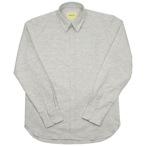 De Bonne Facture - Japanese Slubbed Cotton Essential Pocket Shirt - Light Grey