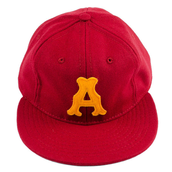 Ebbets - Amarillo Gold Sox 1961 Adjustable Cap - Burgundy Wool