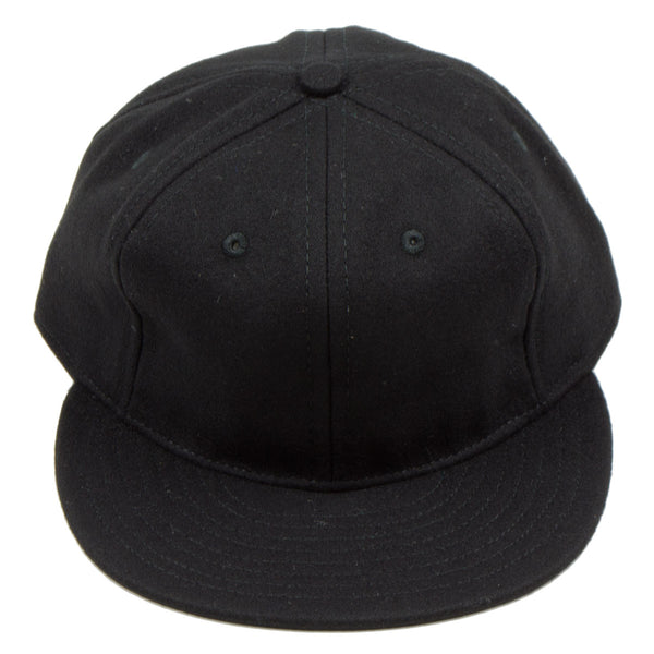 Ebbets - Basic Wool Flannel Adjustable Cap - Black