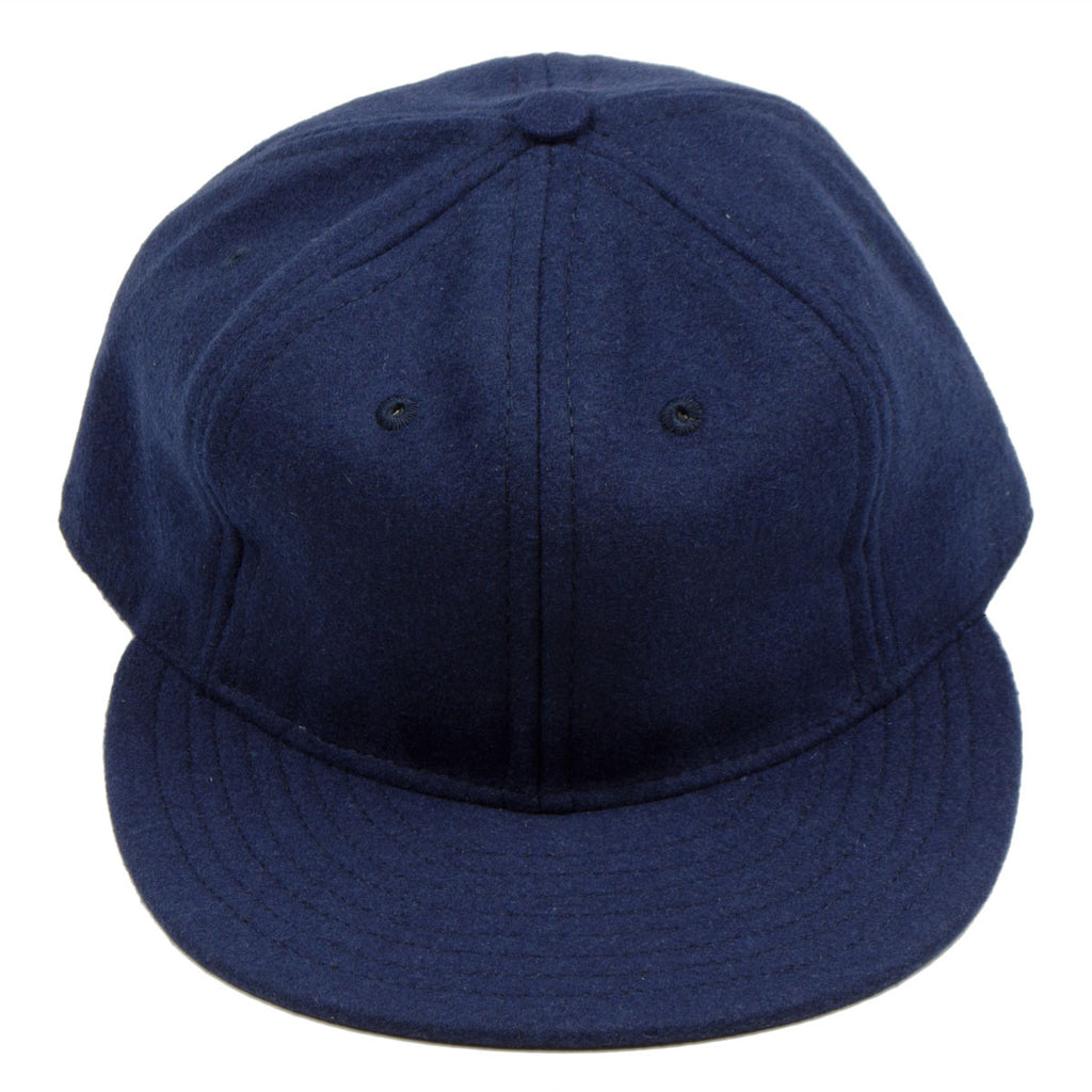 Ebbets - Basic Wool Flannel Adjustable Cap - Navy
