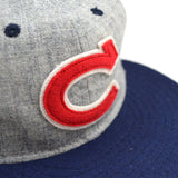 Ebbets - Chunichi Dragons 1950 Cap (Adjustable Wool) - Grey / Navy