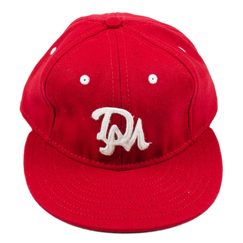 Ebbets - Des Moines Demons 1959 Adjustable Cap - Red Wool