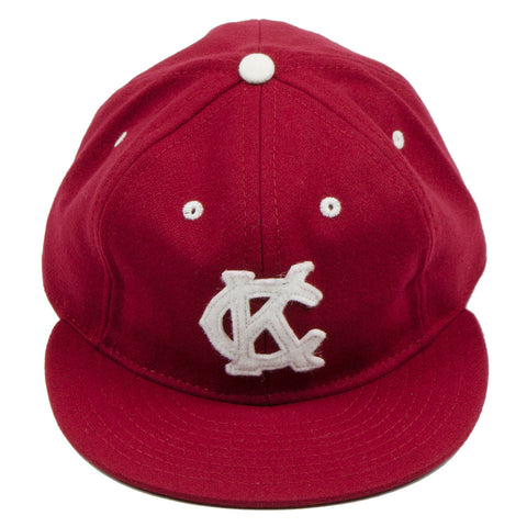 Ebbets - Kansas City Monarchs Cap (Adjustable Wool Flannel) - Burgundy