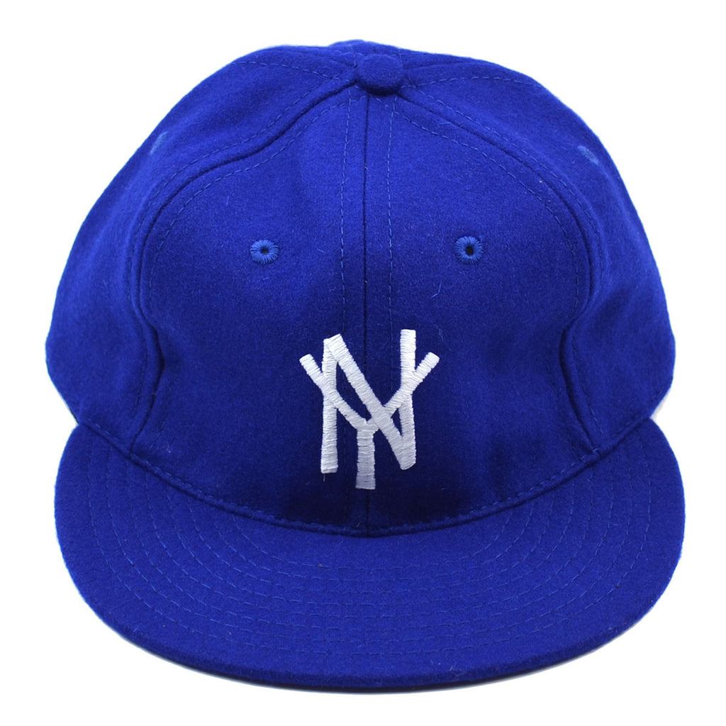 Ebbets - New York Mammoths Cap (Adjustable Wool Flannel) - Royal Blue