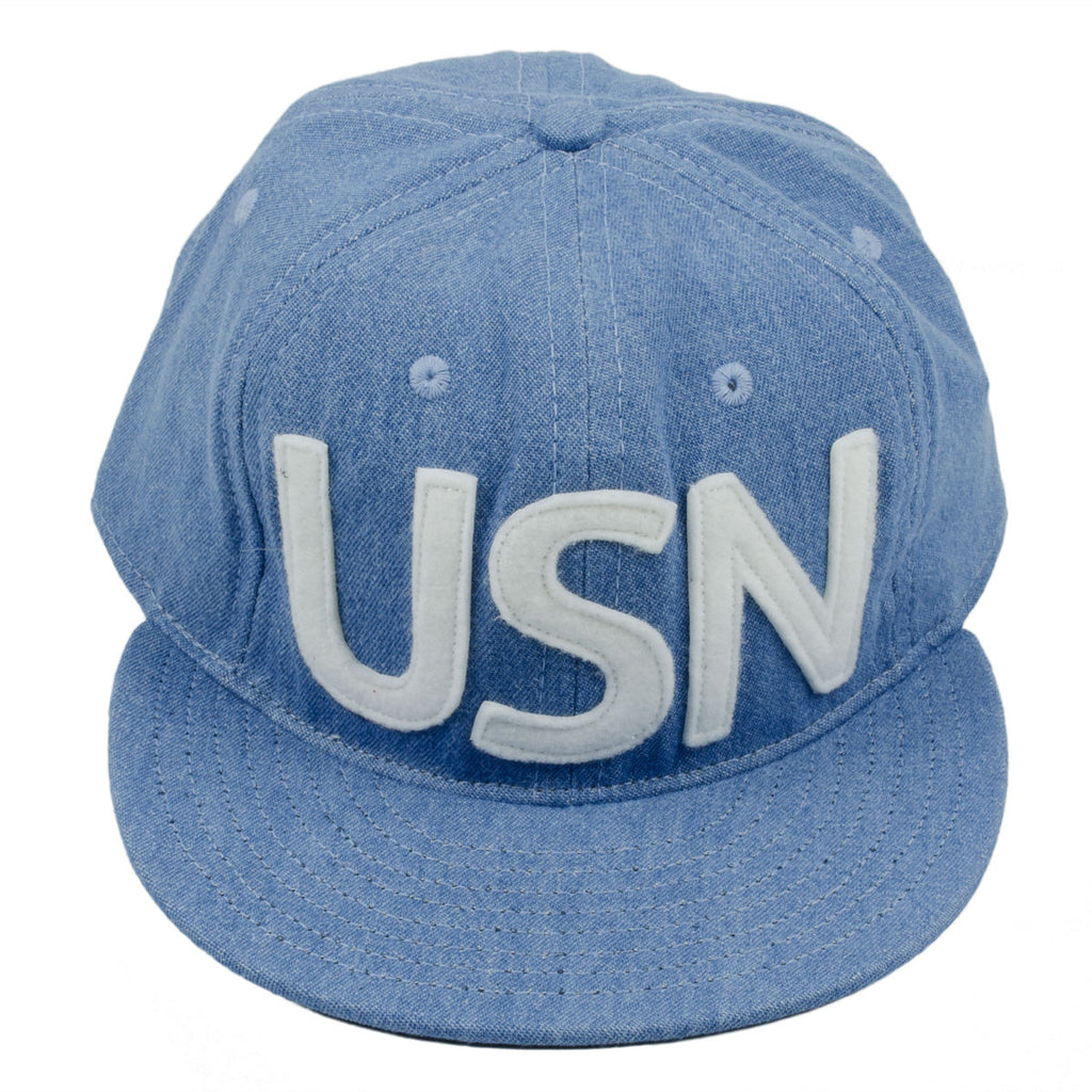 Ebbets - USN Cap (Adjustable Cotton) - Washed Denim