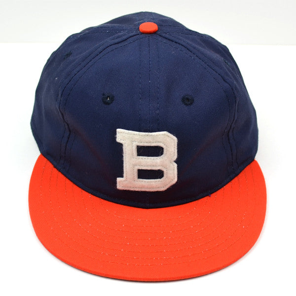 Ebbets Field Flannels – Brooklyn Bushwicks 1949 (Adjustable Cotton) – Navy / Orange