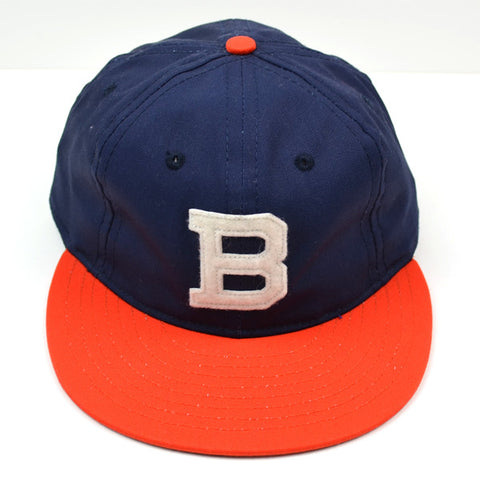 Ebbets - Brooklyn Bushwicks Cap (Adjustable Cotton) - Navy / Orange