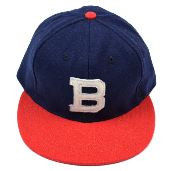 Ebbets Field Flannels – Brooklyn Bushwicks 1949 (Fitted) – Navy / Orange