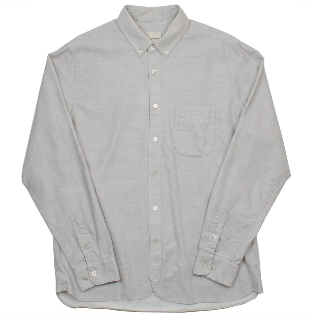 Ecole de Pensée - Home Shirt - Grey Wool Melange
