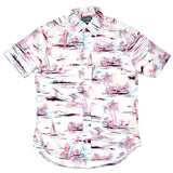 Gitman Vintage - 3D Print Short-Sleeve Shirt - White / Red / Blue