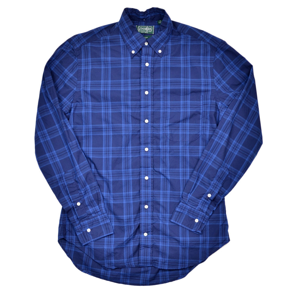 Gitman Vintage - Check Shirt - Blue On Blue Indigo