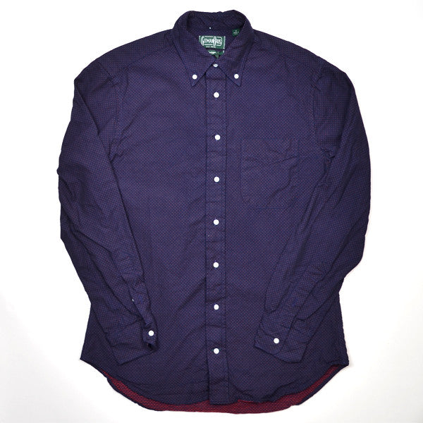 Gitman Vintage - Indigo Pin Dot - Navy / Red
