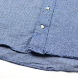 Gitman Vintage - Japanese Slub Herringbone Flannel Shirt - Blue