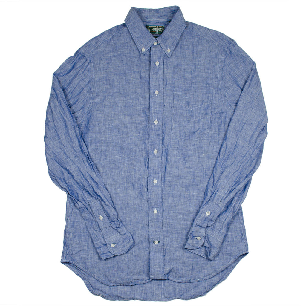 Gitman Vintage - Linen Chambray Shirt - Blue