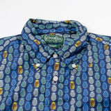 Gitman Vintage - Pina Among The Pines Short-sleeve Shirt  - Pineapple Navy Print
