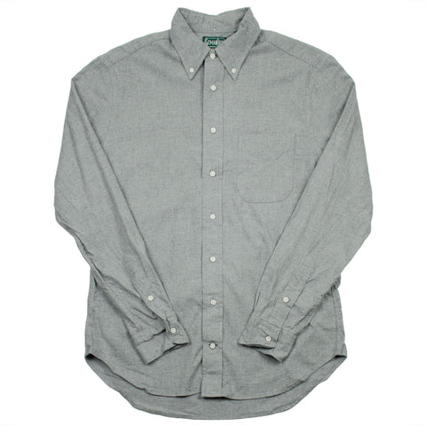 Gitman Vintage - Portuguese Flannel Shirt - Light Grey