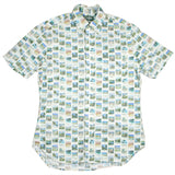 Gitman Vintage - Postcard Print Short-sleeve Shirt - White