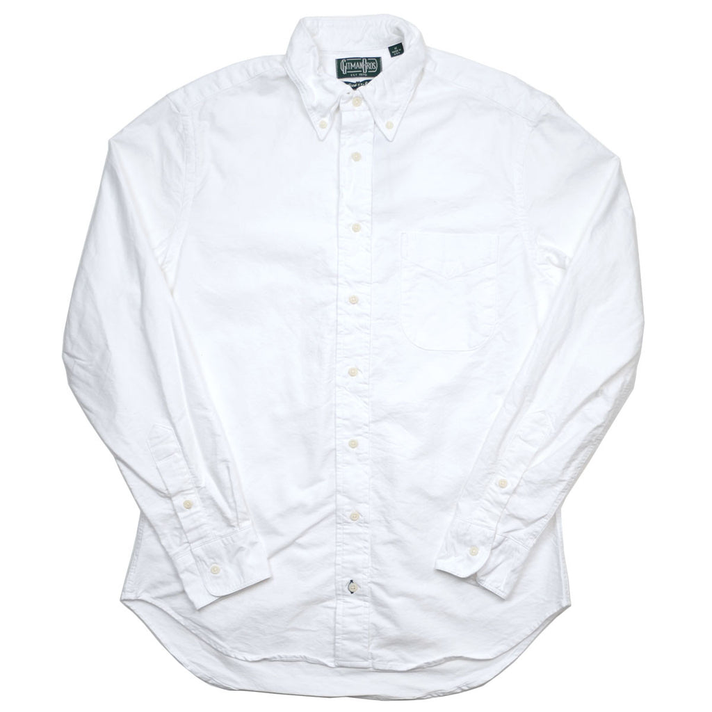Gitman Vintage - Seed to Sew Oxford Shirt - White