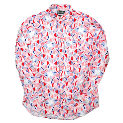 Gitman Vintage - Winter Palm Red Printed Shirt - Multicolor