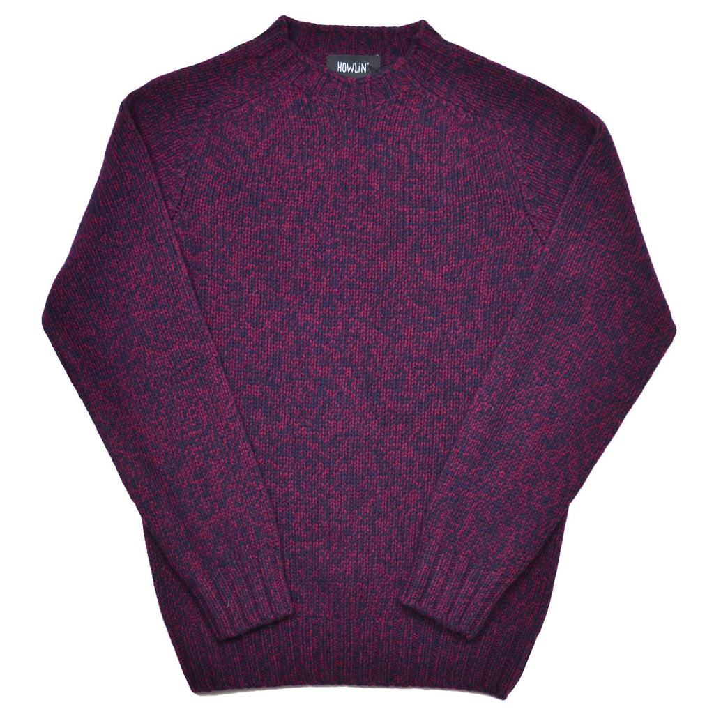 Howlin' - Barabas Wool Sweater - Navy / Bordeaux