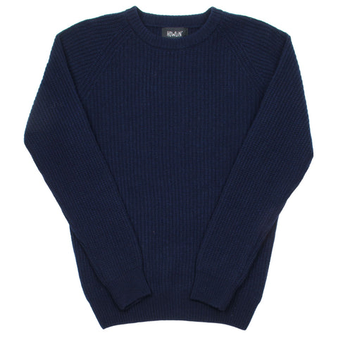 Howlin' - Better World Geelong Wool Sweater - Navy