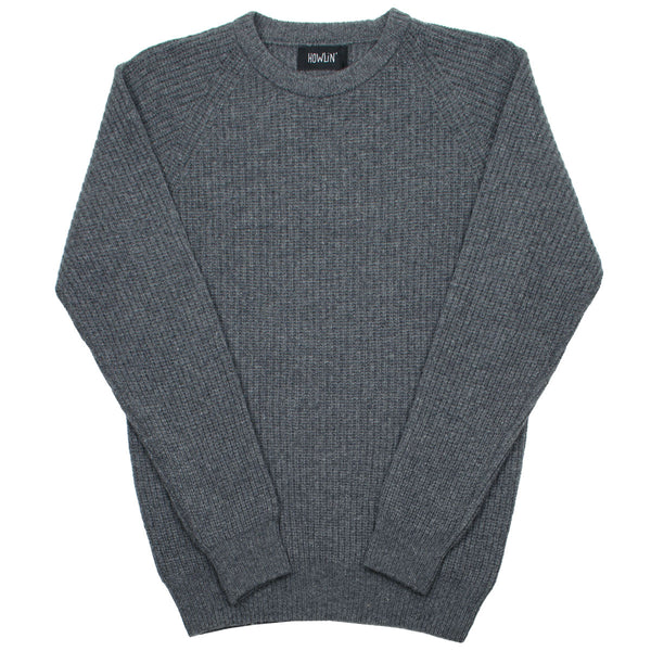 Howlin' - Better World Geelong Wool Sweater - Storm