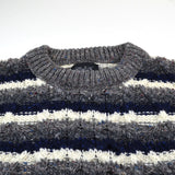 Howlin' - Moodyman Wool Sweater - Grey / Navy / Ecru Stripes