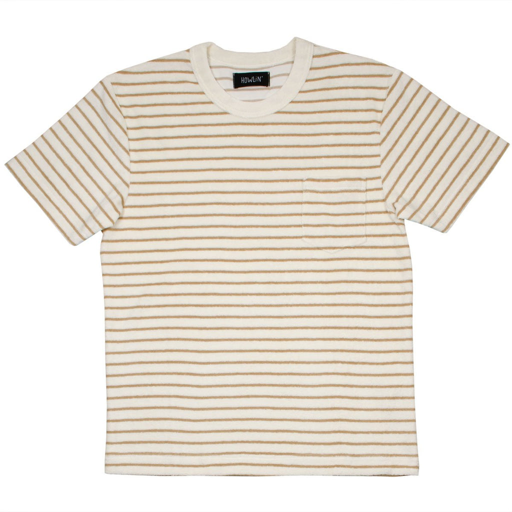 Howlin' - Psycho Killer Striped Towel T-shirt - Bronze / Cream