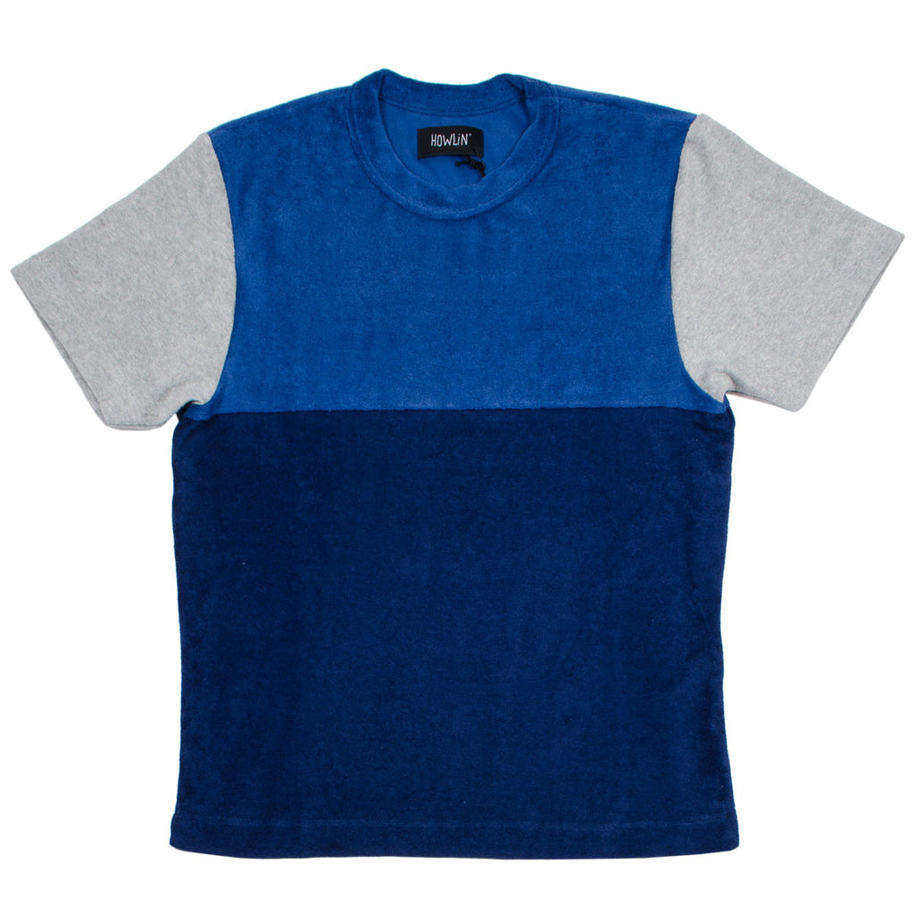 Howlin' - Sunforest Towel T-shirt - Combi B (Navy/Blue/Grey)
