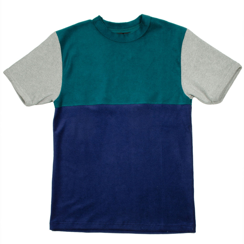 Howlin' - Sunforest Two Color Block T-shirt - Navy / Green / Grey