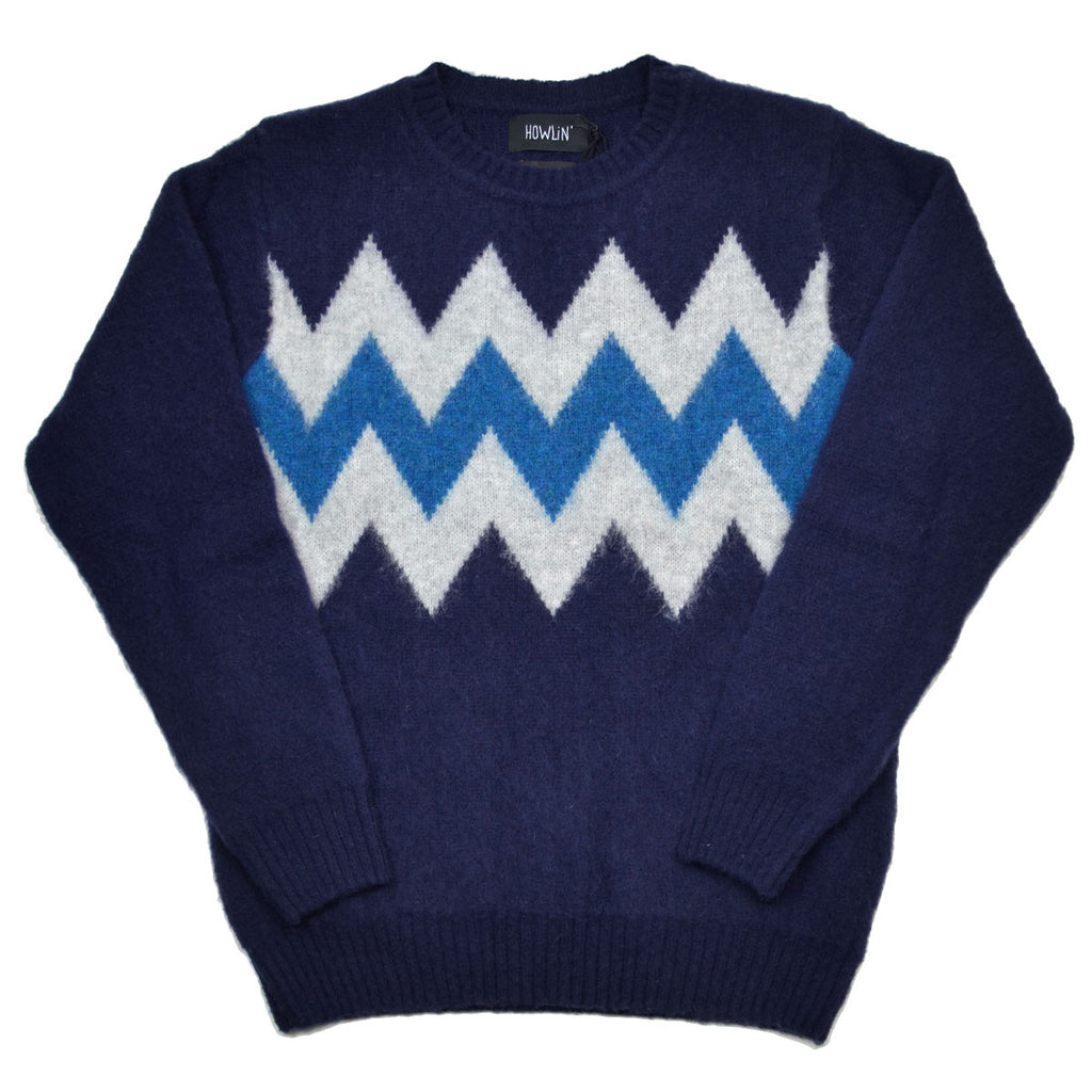 Howlin' - Wild Safari Wool Sweater - Navy