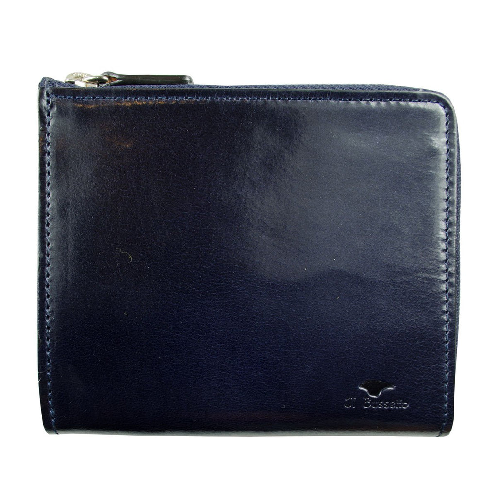 Il Bussetto - Isola Zipped Wallet - Navy Blue