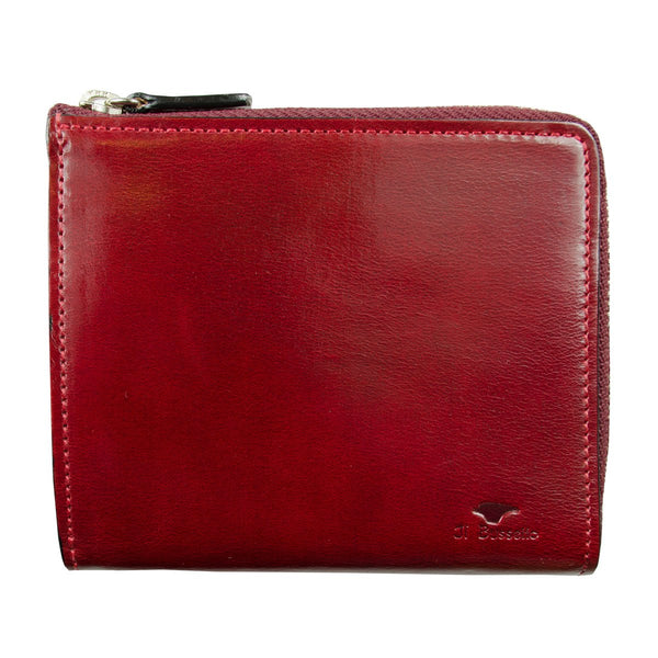Il Bussetto - Isola Zipped Wallet - Tibetan Red