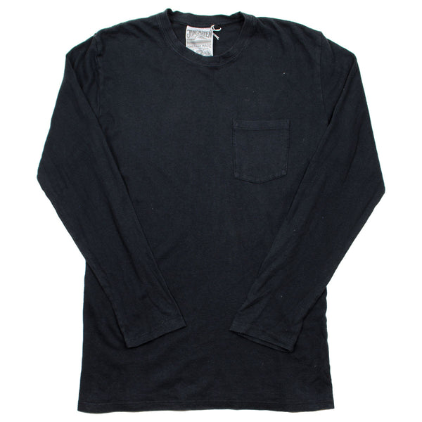 Jungmaven - Baja Pocket Hemp Long-Sleeved T-shirt 55/45 - Urban Black