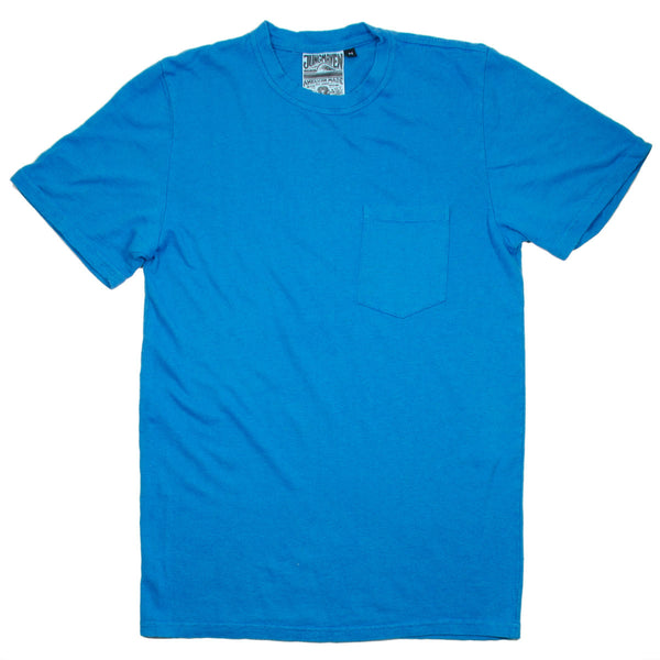 Jungmaven - Baja Pocket Hemp T-shirt 55/45 (7 oz) - Agean Sea Blue
