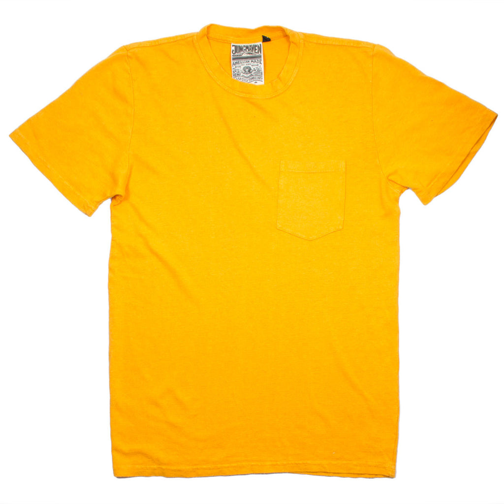 Jungmaven - Baja Pocket Hemp T-shirt 55/45 (7 oz) - Carrot Orange