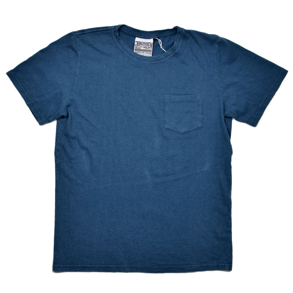 Jungmaven - Baja Pocket Hemp T-shirt 55/45 (7 oz) - Denim Blue