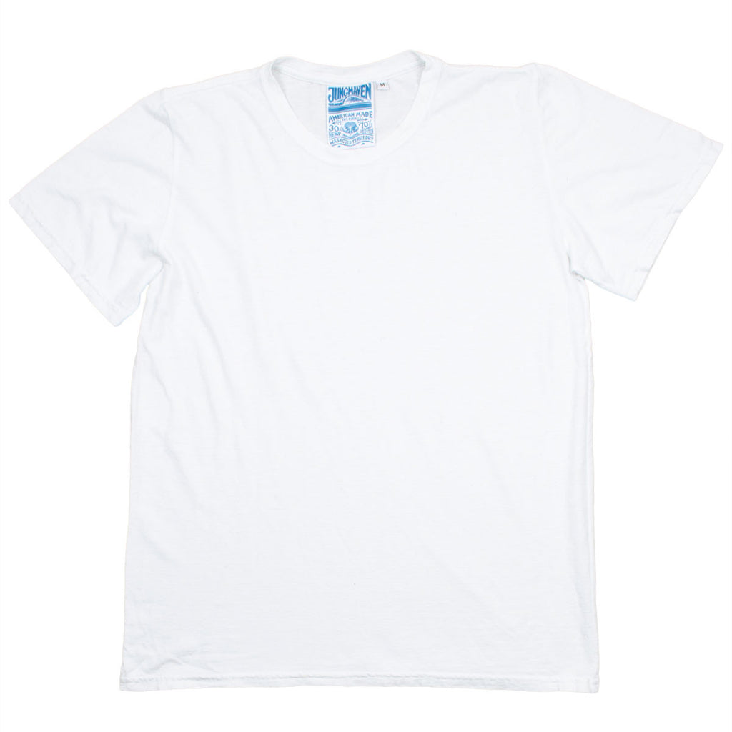Jungmaven - Men's Original Hemp T-shirt 30/70 (5 oz) - Optic White