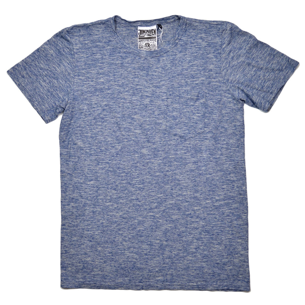 Jungmaven - Men's Yarn-Dyed Pocket Hemp T-shirt 55/45 (6 oz) - Heather Navy