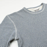 Jungmaven - Yarn-Dyed Crewneck Sweatshirt - New Blue Stripe