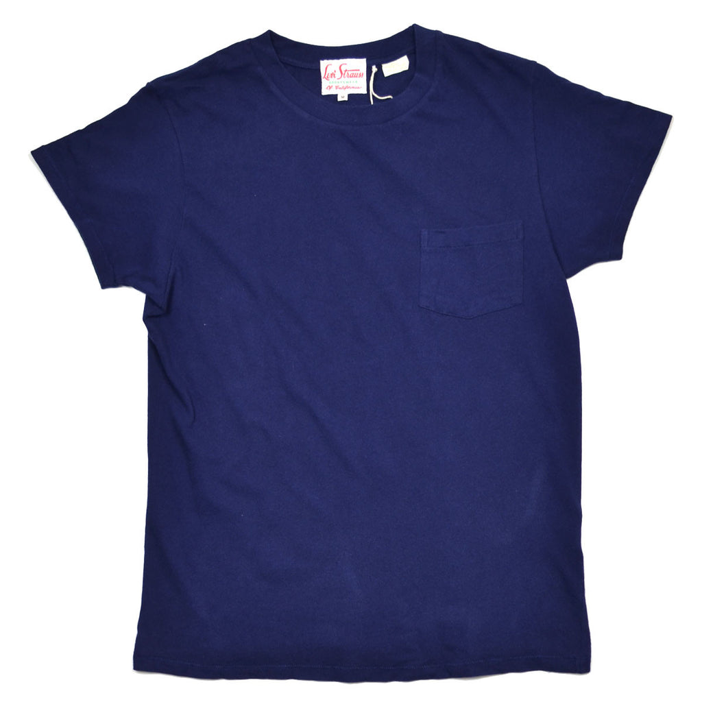Levi's Vintage Clothing - 1950's Pocket T-shirt - Bright Navy