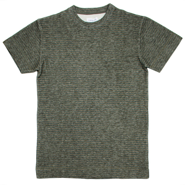Libertine-Libertine - Action T-shirt Out - Olive Stripe