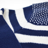 Libertine-Libertine - Boston Sweater Verve - Navy with Black & White