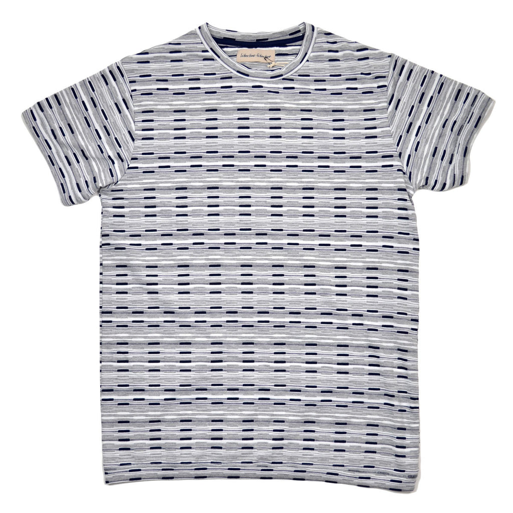 Libertine-Libertine - Brake T-shirt Rey - Grey Melange / White / Navy