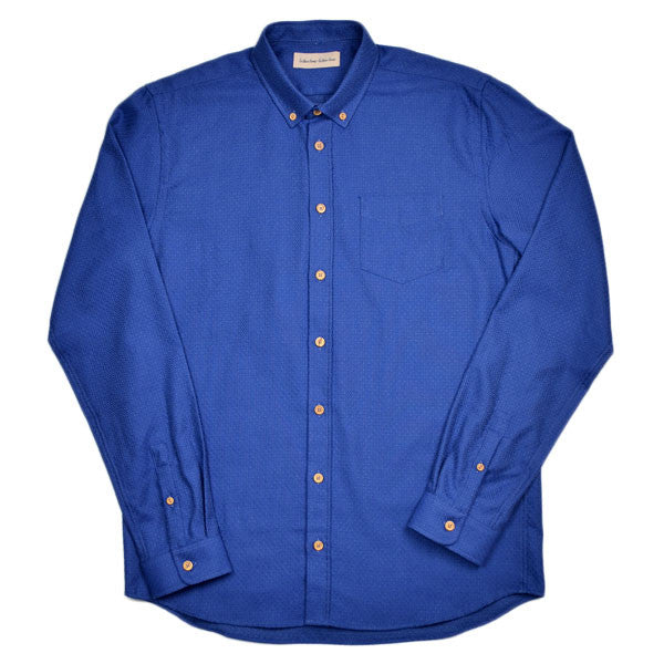 Libertine-Libertine - Hunter Shirt Broken - Surf The Web (Royal Blue)